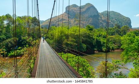 Wat Khao Pung Rope Bridge, Surat Thani, Thailand