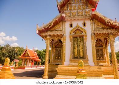 the Wat Klang Suan Dok Mai in the town of Tak in the Province of Tak in Thailand.   Thailand, Tak, November, 2019