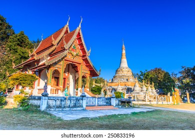 wat luang,at Pai in Mae Hong Son Thailand, They are public domain or treasure of Buddhism, no restrict in copy or use