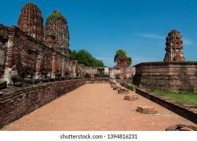 Wat Mahathat, Ancient City in Phra Nakhon Si Ayutthaya, Thailand, Phra Nakhon Si Ayutthaya Historical Park