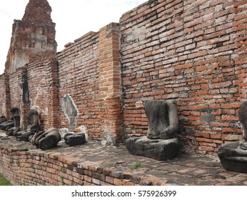 The Wat Mahathat is a Buddhist temple in Ayutthaya, central Thailand