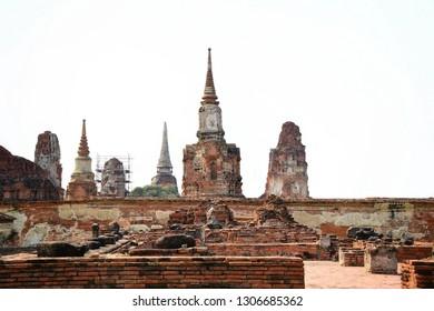 Wat Mahathat, Phra Nakhon Si Ayutthaya Province Is one of the temples in the Phra Nakhon Si Ayutthaya Historical Park Temple,Thailand