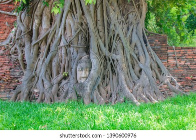 Wat Mahathat, Phra Nakhon Si Ayutthaya Province Is one of the temples in the Ayutthaya Historical Park World Heritage Site, Thailand, UNESCO.