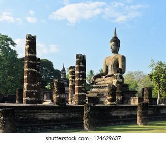 Wat Mahathat in Sukhothai Historical Park, Thailand