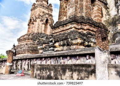 Wat Mahathat in Sukhothai An old temple As a learning resource Attractions The most important place in Sukhothai.