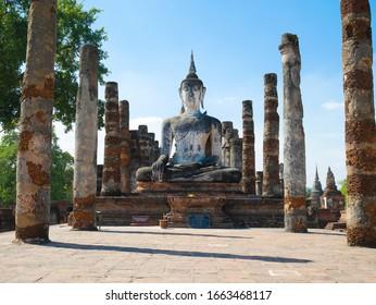 Wat Mahathat in Sukhothai province, Thailand