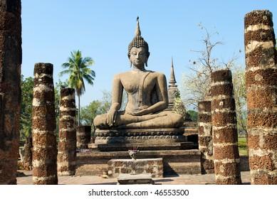 Wat Mahathat Temple in Sukhothai Historical Park