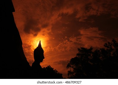 the Wat Mahathat Temple in in sukhothai in thailand