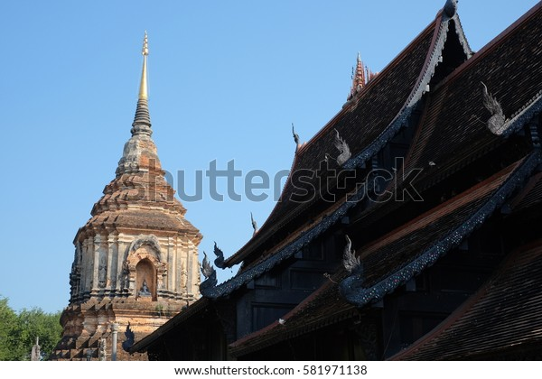 Wat Moli Temple in Chiangmai, northern of Thailand