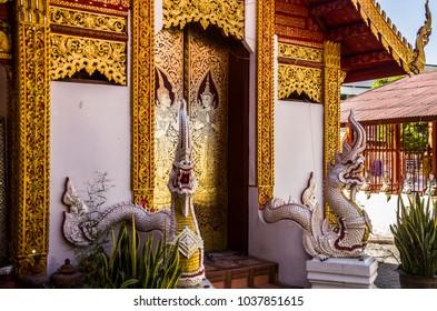 Wat Muen Ngoen Kong  Beautiful temple in Chiang mai,Thailand.
