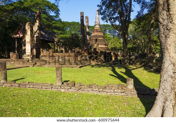 Wat  Nang Phaya temple in Sisatchanalai Historical Park, Sukhothai Thailand