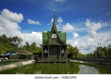 WAT PA MAHA JEDI KEAW TEMPLE WAT LAN KHUAD THE MILLION BOTTLES TEMPLE SISAKET PROVINCE THAILAND Travel Thai Asia