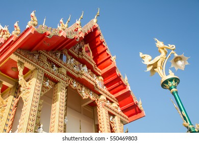 Wat Par-Poo-Hai-Rong is the beautiful temple in Nakhonratchasima province, Northeast Thailand.