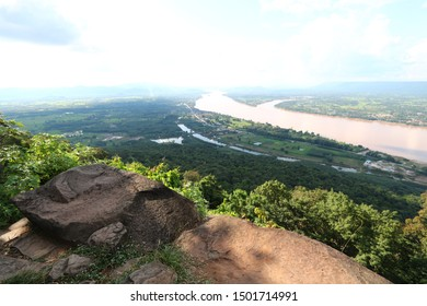 Wat Pha Tak Sue, Sangkhom District, Nong Khai Province, Thailand is a beautiful viewpoint of the Mekong River and Laos.