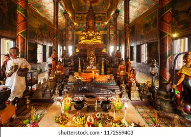 Wat Phnom or Mountain Pagoda is a buddhist temple located in Phnom Penh in Cambodia