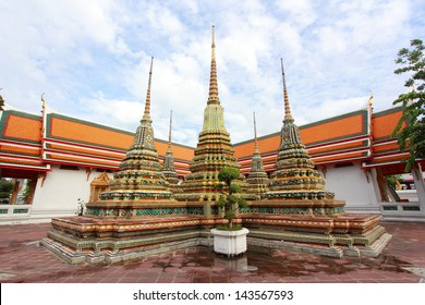 Wat Pho, Bangkok, Thailand. 'Wat' means temple in Thai. The temple is one of Bangkok's most famous tourist sites.