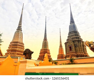 Wat Pho is first on the list of six temples in Thailand classed as the highest grade of the first-class royal temples. Bangkok-Thailand 2019