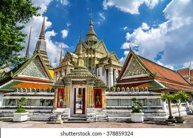 Wat Pho or Wat Phra Chetuphon, Temple of the Reclining Buddha. Bangkok, Thailand