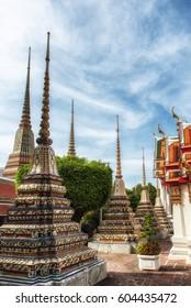 Wat Pho Temple of the reclining buddha Wat Phra Chetuphon, Bangkok, Thailand