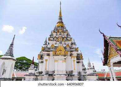 Wat Phra Borommathat Chaiya Ratchaworawihan, Famous temple in south of Thailand, Nakhon Si Thammarat