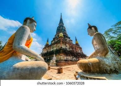 Wat Phra Chedi Chai Mongkol Temple, Ayutthaya.  Bangkok province, Thailand
