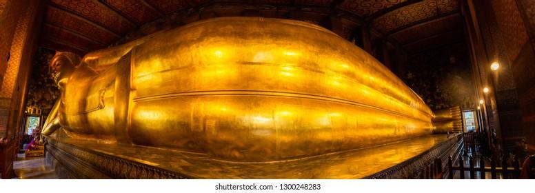 Wat Phra Chetuphon Reclining Buddha Bangkok Thailand