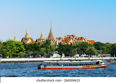 Wat Phra Kaeo, Temple of the Emerald Buddha and the home of the Thai King. Wat Phra Kaeo is one of Bangkok's most famous tourist sites and it was built in 1782 at Bangkok, Thailand