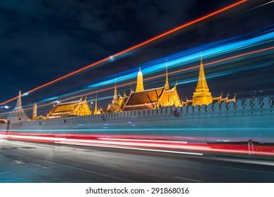 Wat Phra Kaew at Night in bangkok thailand
