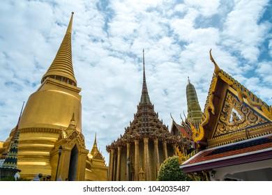 Wat Phra Kaew, public temple in Bangkok Thailand
