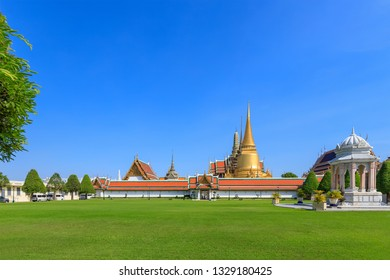Wat Phra Kaew or the Temple of the Emerald Buddha in Grand Palace Bangkok