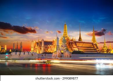 Wat Phra Kaew - The Temple of Emerald Buddha in Bangkok, Thailand