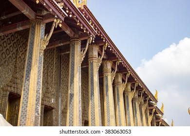 Wat Phra Kaew (Temple of the Emerald Buddha) Bangkok, Thailand