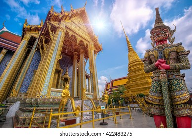Wat Phra Kaew, Temple of the Emerald Buddha Wat Phra Kaew is one of Bangkok's most famous tourist sites and it was built in 1782 at Bangkok, Thailand