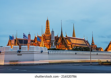 Wat Phra Kaew's Pagodas From the Grand Palace of Thailand