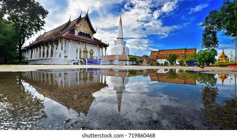 Wat Phra Mahathat Woramahawihan, Nakhon Si Thammarat  Hae Pha Khuen That Festival is celebrated at Phra Borom That Chedi at Wat Phra Mahathat Woramahawihan in THAILAND