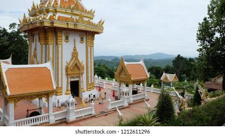 Wat Phra Phutthabat phu khway ngein templeIn Chiang Khan District, Loei Province.Thailand.