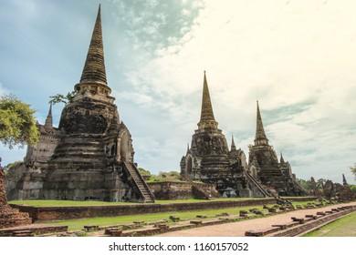 Wat Phra Si Sanphet, Ayutthaya historical park, Ayutthaya,Thailand
