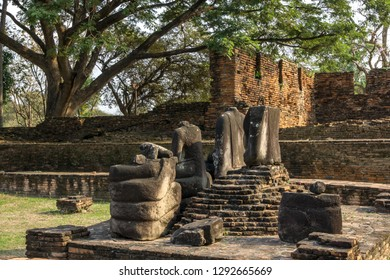Wat Phra Si Sanphet Buddhist headless statues in Ayutthaya, Thailand.