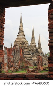 Wat Phra Si Sanphet ,the most important temple for Ayutthaya royal court ,there were no monks living in the temple.Buddhist sculpture ,Thai temple architecture ,Ayutthaya Historical Park,Thailand.