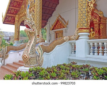 Wat Phra Sing temple in Chiang Mai, Thailand