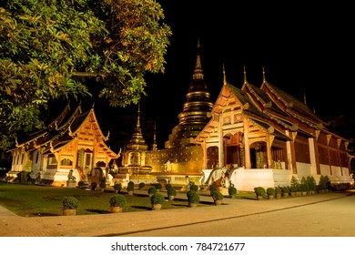 Wat Phra Singh, the major tourist attraction of Chiang Mai, Thailand.