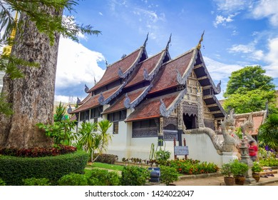 Wat Phra Singh temple buildings in Chiang Mai, Thailand
