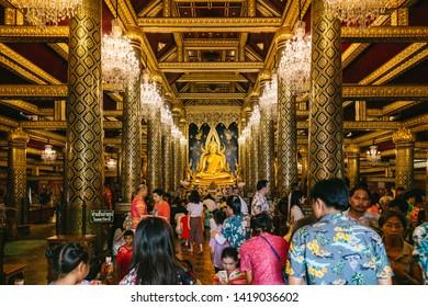 Wat Phra Sri Rattana Mahathat Temple, Phitsanulok in Thailand.