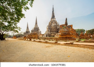 Wat Phra Sri Sanphet - ancient temple in Ayutthaya, Thailand. The temple is on the site of the old Royal Palace of ancient capital of Ayutthaya