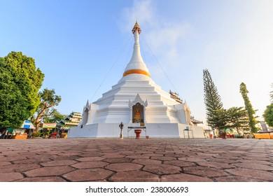 Wat Phra That Doi Kong Mu temple on a mountain top,Mae Hong Son,Thailand.