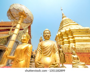 Wat Phra That Doi Suthep, a Theravada Buddhist temple in Chiang Mai, Thailand.