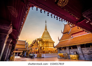 Wat Phra That Doi Suthep, the most famous temple in Chiang Mai, Thailand