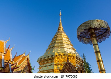Wat Phra That Doi Suthep, a popular tourist attraction in Chiang Mai, Thailand.