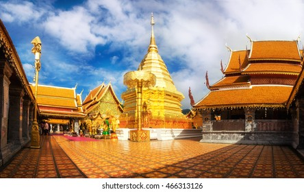Wat Phra That Doi Suthep is the most famous temple in Chiang Mai at Thailand. Popular historical temple in Thailand.