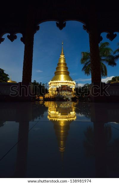 Wat Phra That Hariphunchai is Thai temple in lamphun, Thailand